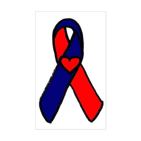 CHD Ribbon Rectangle Sticker