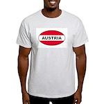 Austrian Oval Flag on Ash Grey T-Shirt