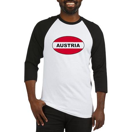 Austrian Oval Flag on Baseball Jersey