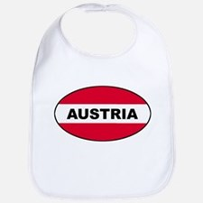 Austrian Oval Flag on Bib