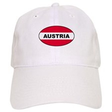 Austrian Oval Flag on Baseball Cap