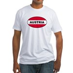 Austrian Oval Flag on Fitted T-Shirt