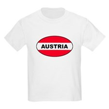 Austrian Oval Flag on Kids T-Shirt