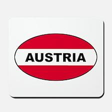 Austrian Oval Flag on Mousepad