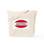 Austrian Oval Flag on Tote Bag