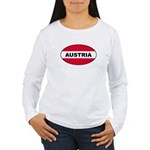 Austrian Oval Flag on Women's Long Sleeve T-Shirt