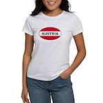 Austrian Oval Flag on Women's T-Shirt