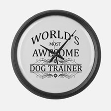 World's Most Awesome Dog Trainer Large Wall Clock
