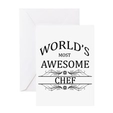 World's Most Awesome Chef Greeting Card