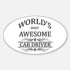 World's Most Awesome Cab Driver Decal