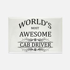 World's Most Awesome Cab Driver Rectangle Magnet