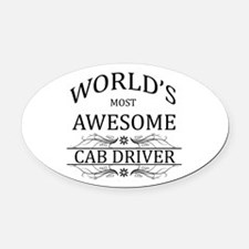 World's Most Awesome Cab Driver Oval Car Magnet