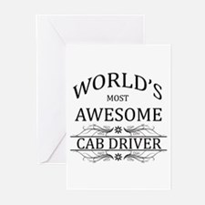 World's Most Awesome Cab Driver Greeting Cards (Pk