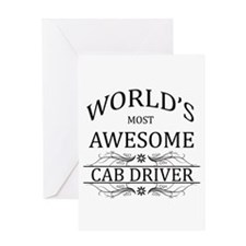 World's Most Awesome Cab Driver Greeting Card