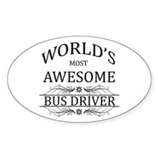 World's Most Awesome Bus Driver Decal