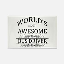 World's Most Awesome Bus Driver Rectangle Magnet