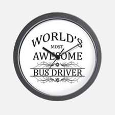 World's Most Awesome Bus Driver Wall Clock