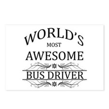 World's Most Awesome Bus Driver Postcards (Package