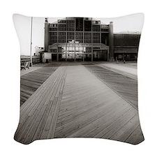 Asbury Park Boardwalk Woven Throw Pillow