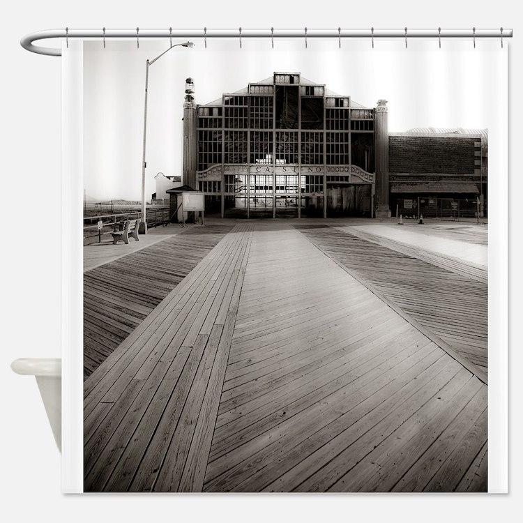 Asbury Park Boardwalk Shower Curtain