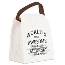 World's Most Awesome Attorney Canvas Lunch Bag