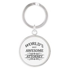 World's Most Awesome Attorney Round Keychain