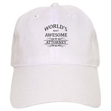 World's Most Awesome Attorney Baseball Cap