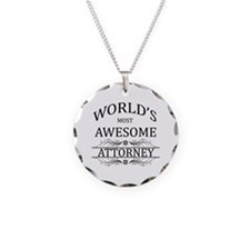 World's Most Awesome Attorney Necklace