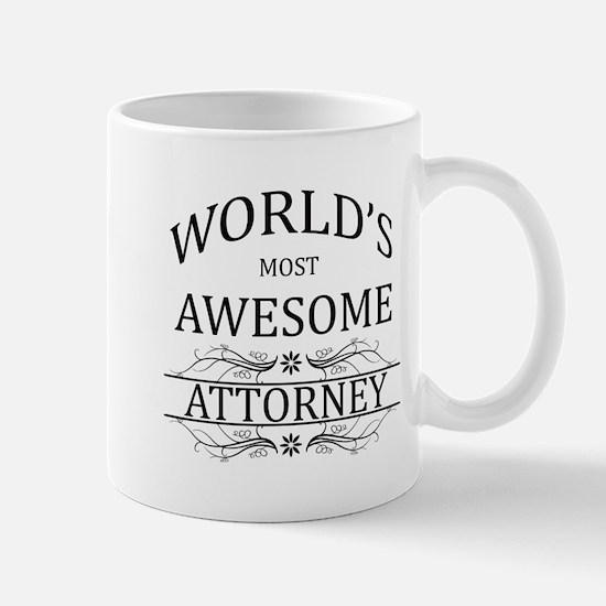 World's Most Awesome Attorney Mug