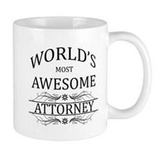 World's Most Awesome Attorney Small Mug