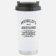 World's Most Awesome Attorney Thermos Mug