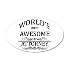 World's Most Awesome Attorney Wall Decal