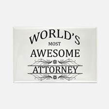 World's Most Awesome Attorney Rectangle Magnet