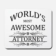 World's Most Awesome Attorney Mousepad