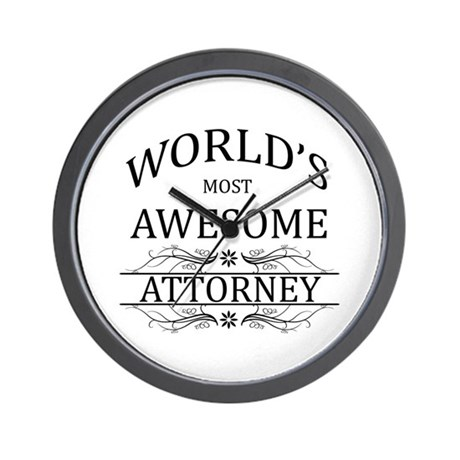 World's Most Awesome Attorney Wall Clock