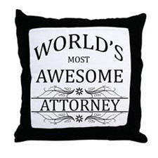 World's Most Awesome Attorney Throw Pillow