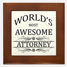 World's Most Awesome Attorney Framed Tile