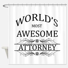 World's Most Awesome Attorney Shower Curtain