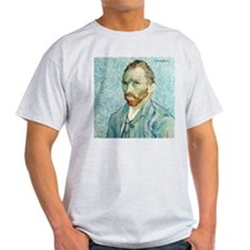Vincent Van Gogh Portrait Blu Ash Grey T-Shirt