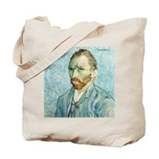 Vincent Van Gogh Portrait Blu Tote Bag