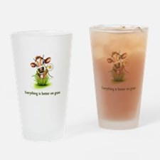 Everything is better on grass Drinking Glass