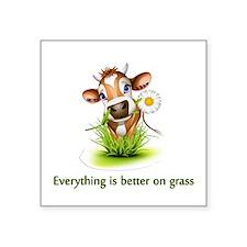 Everything is better on grass Sticker