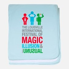 louisville Magic Festival Logo 2 baby blanket