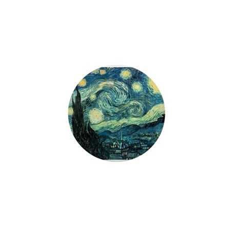 Starry Night Vincent Van Gogh Mini Button
