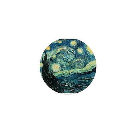 Starry Night Vincent Van Gogh Mini Button (10 pack