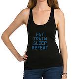 Eat sleep train repeat Tank Top
