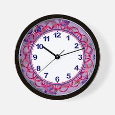 Lavender Roses Clock Wall Clock