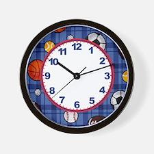 Boys Sport Clock Wall Clock