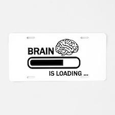 Brain loading Aluminum License Plate