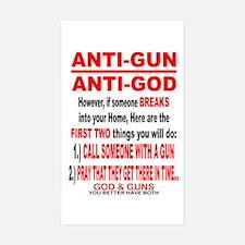 GOD and GUNS Decal